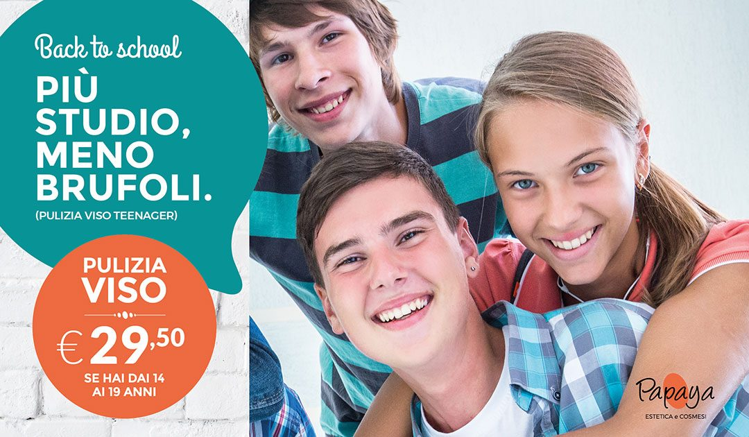 Back to school 2018: pulizia viso